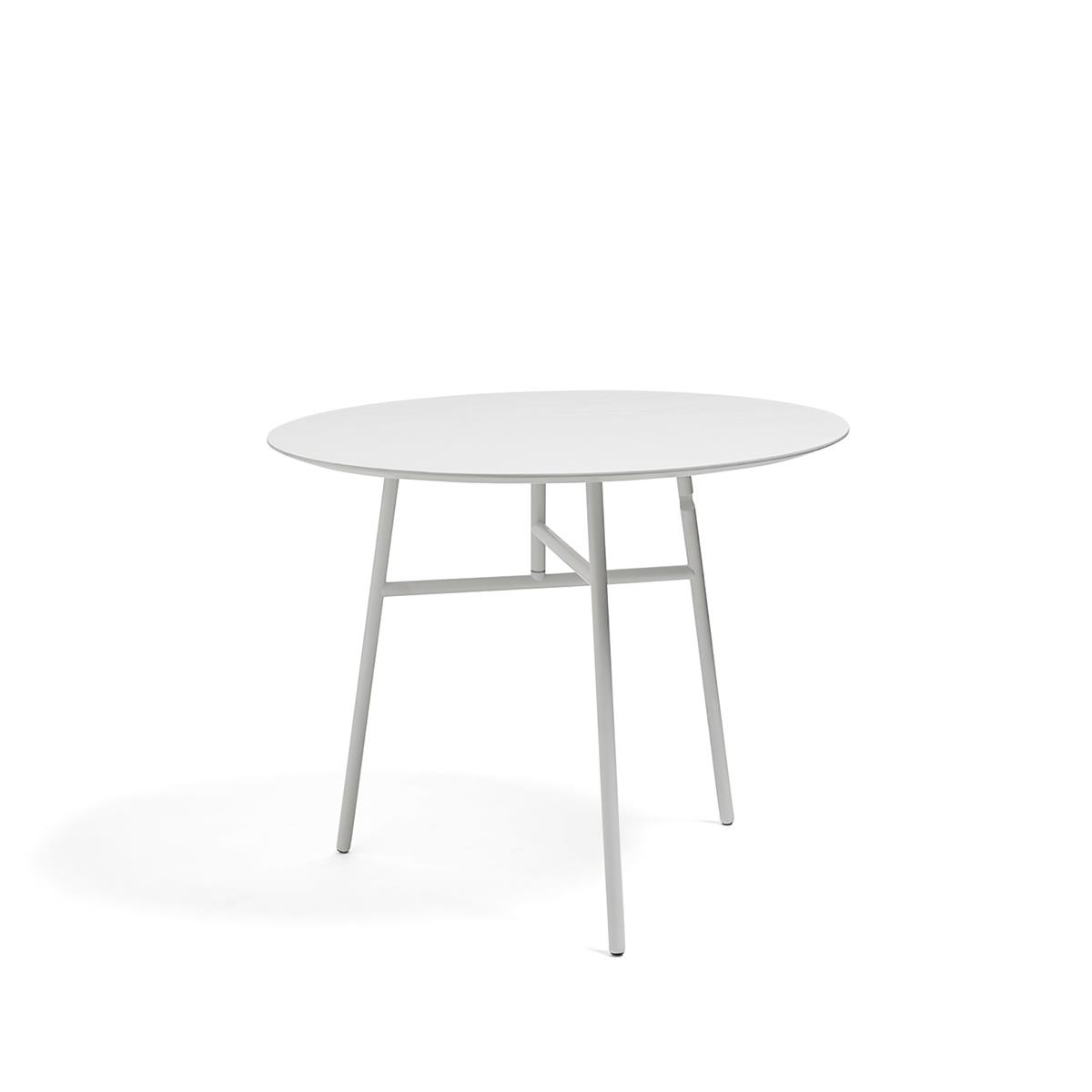 Tilt Top Table Ø90 x H74 - White Stained Ash