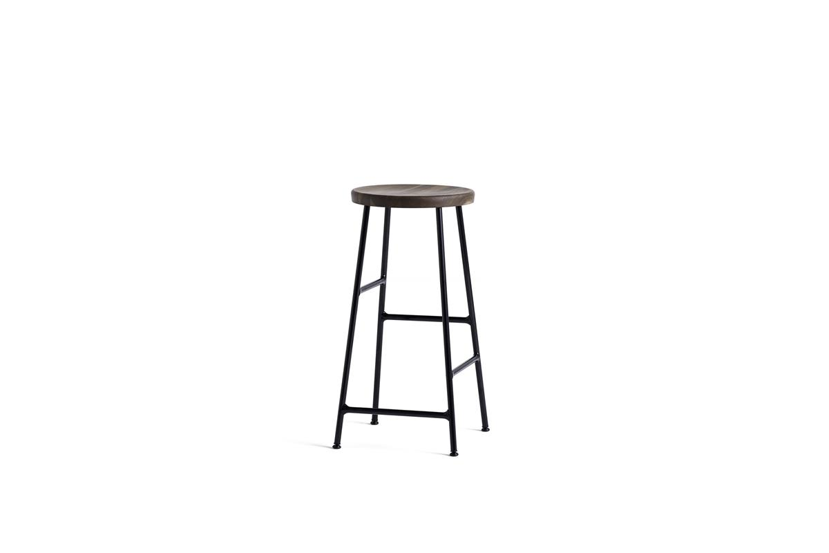 Cornet Bar Stool H65 - Smoked Oiled Oak & Black