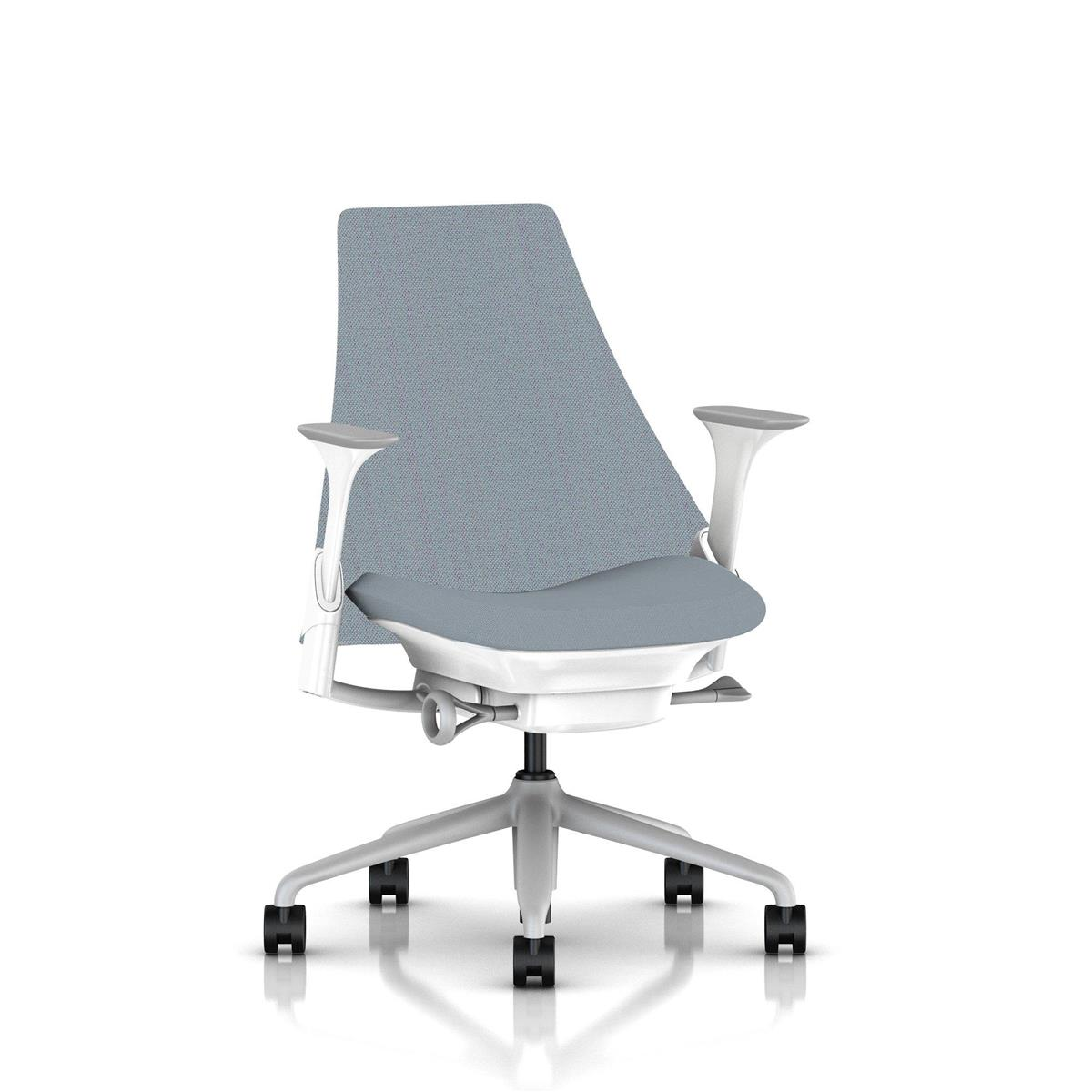 SAYL Mid Back Upholstered - Fog & Studio White med Unity tekstil