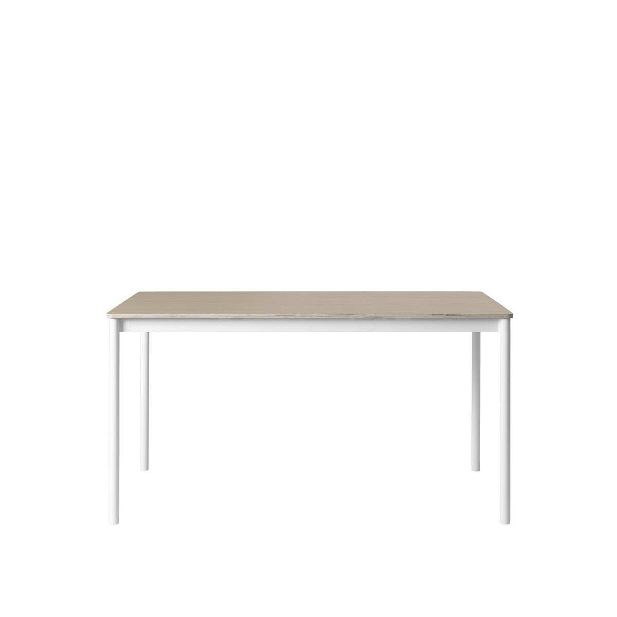 Base Table / 140X70 Oak Veneer - Plywood edges
