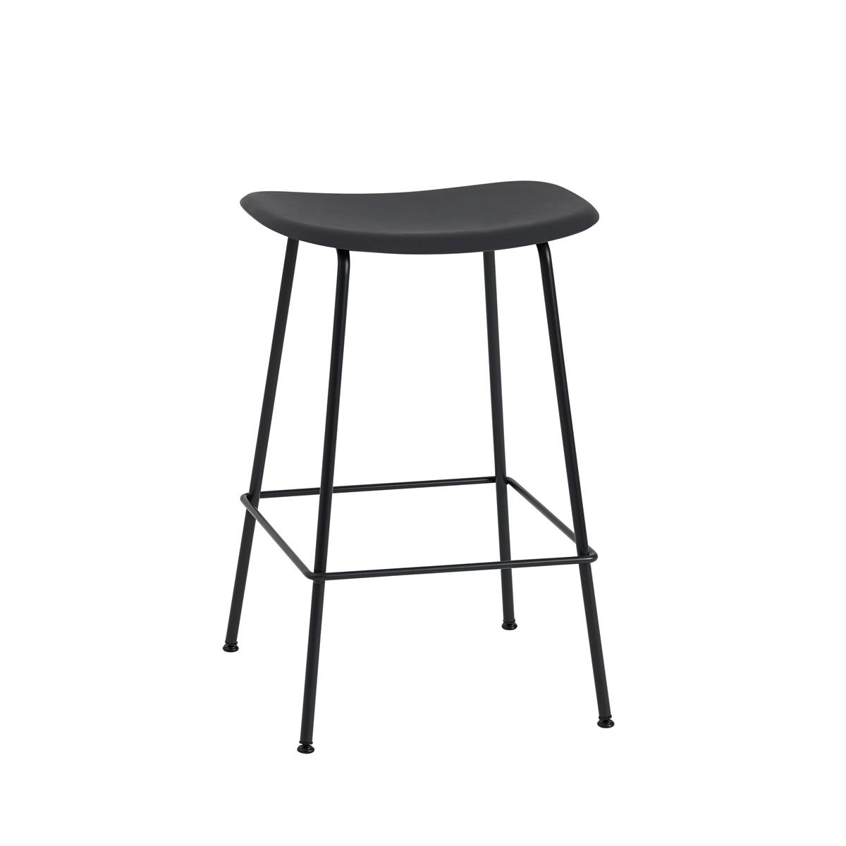 Fiber Bar Stool Tube Base H65 - Black