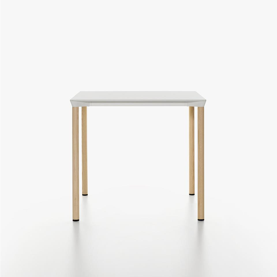 Monza Table 80 x 80 - hvit HPL & ask