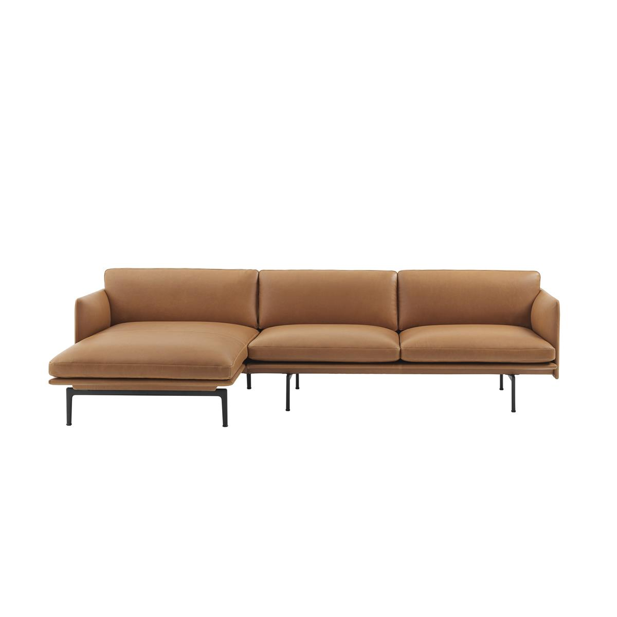 Outline Sofa / Chaise Lounge - Silk Leather