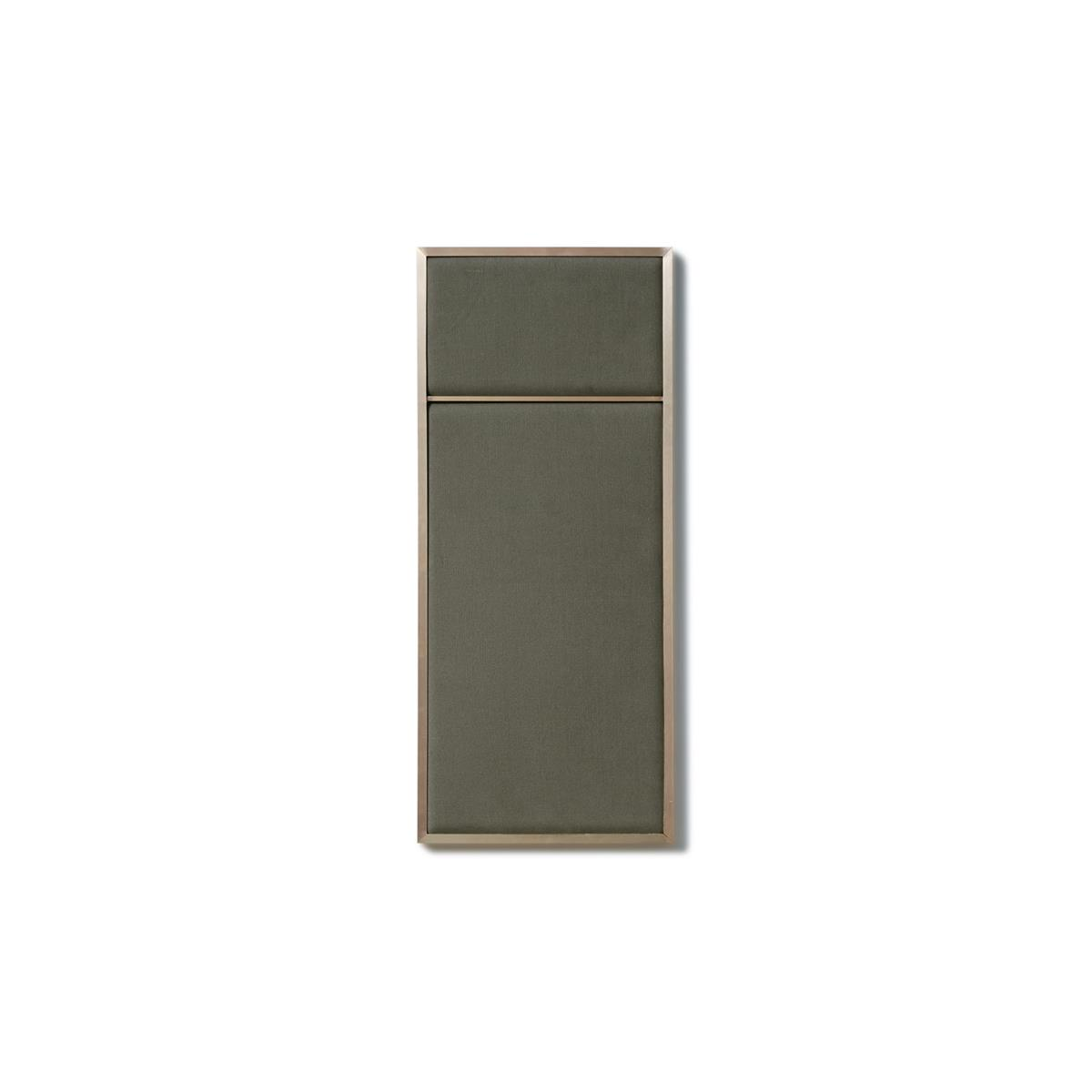 Nouveau Pin Small - Oyster Grey & Brass