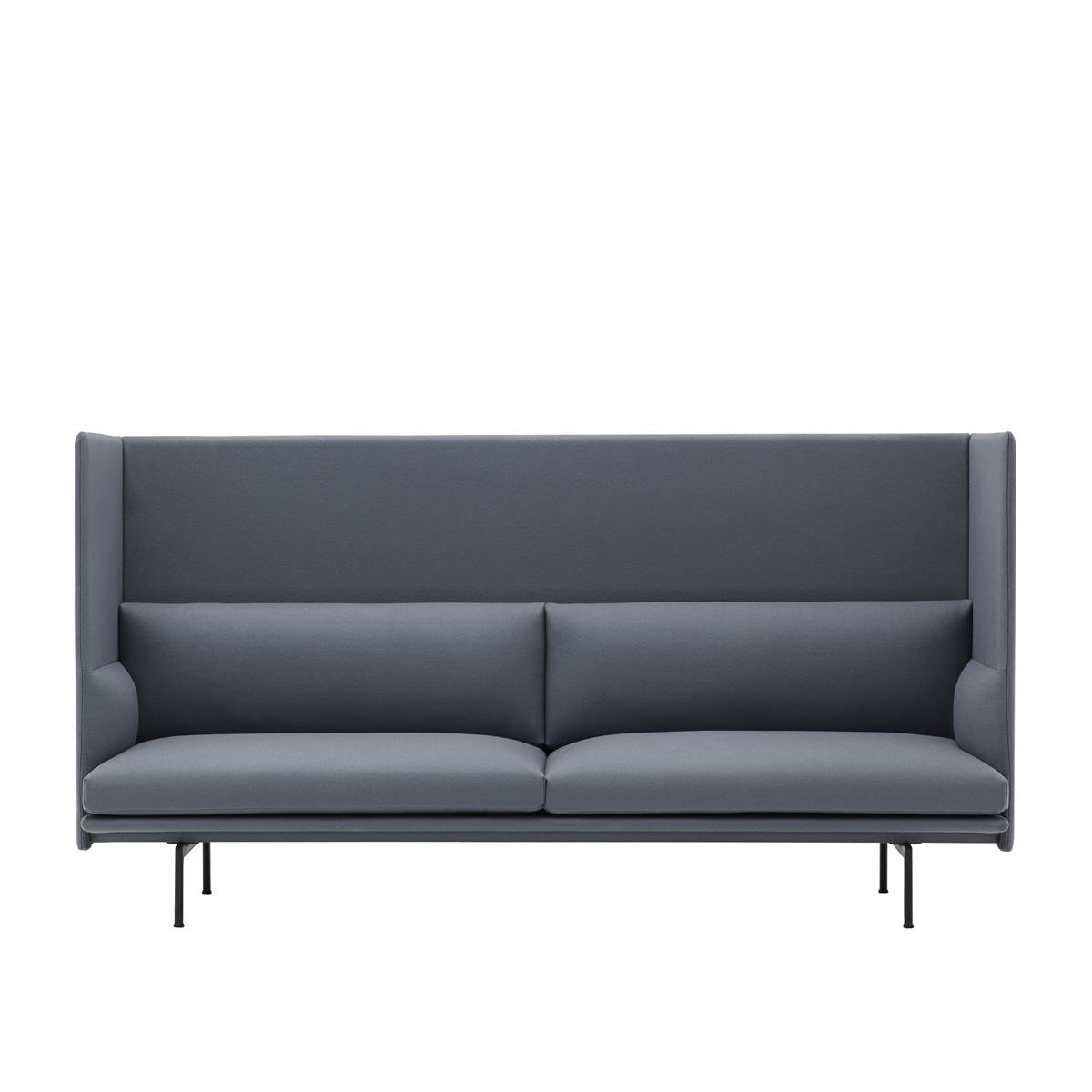 Outline Highback 3 Seater - Divina & Black