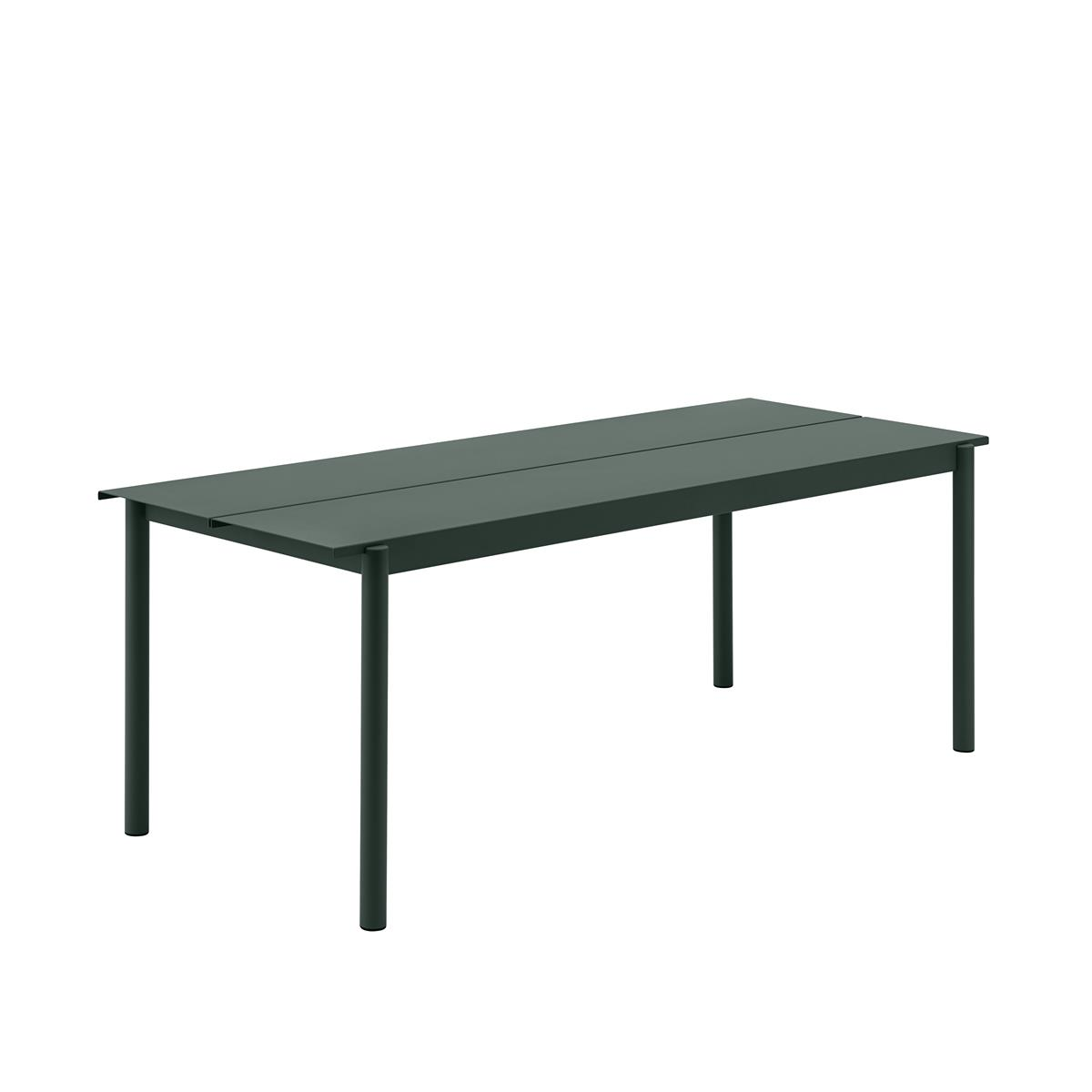 Linear Steel Table 200 x 75 x H73,5 - Dark Green