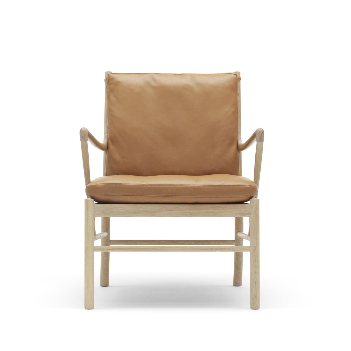 Colonial Chair - hvitoljet eik & hud
