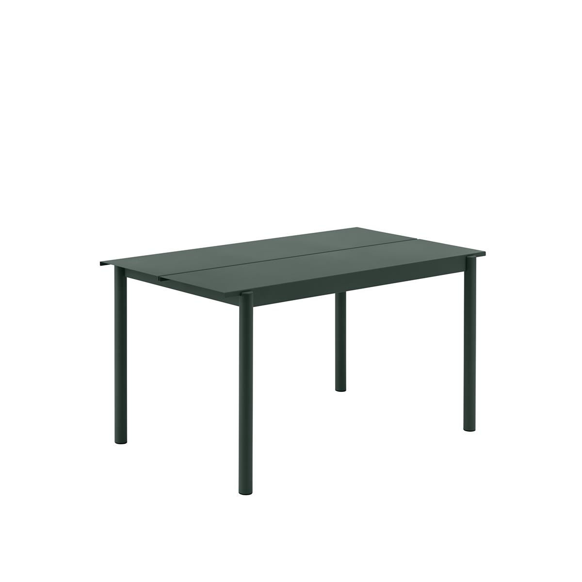 Linear Steel Table 140 x 75 x H73,5 - Dark Green
