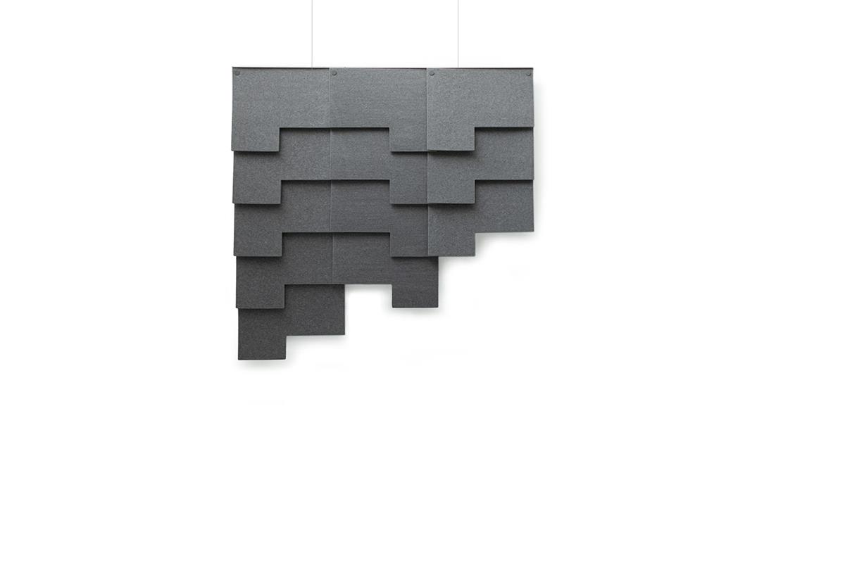 Felt Tile Patch. 3 horizontalt, 12 totalt. Inkl. oppheng. Kvadrat Really.