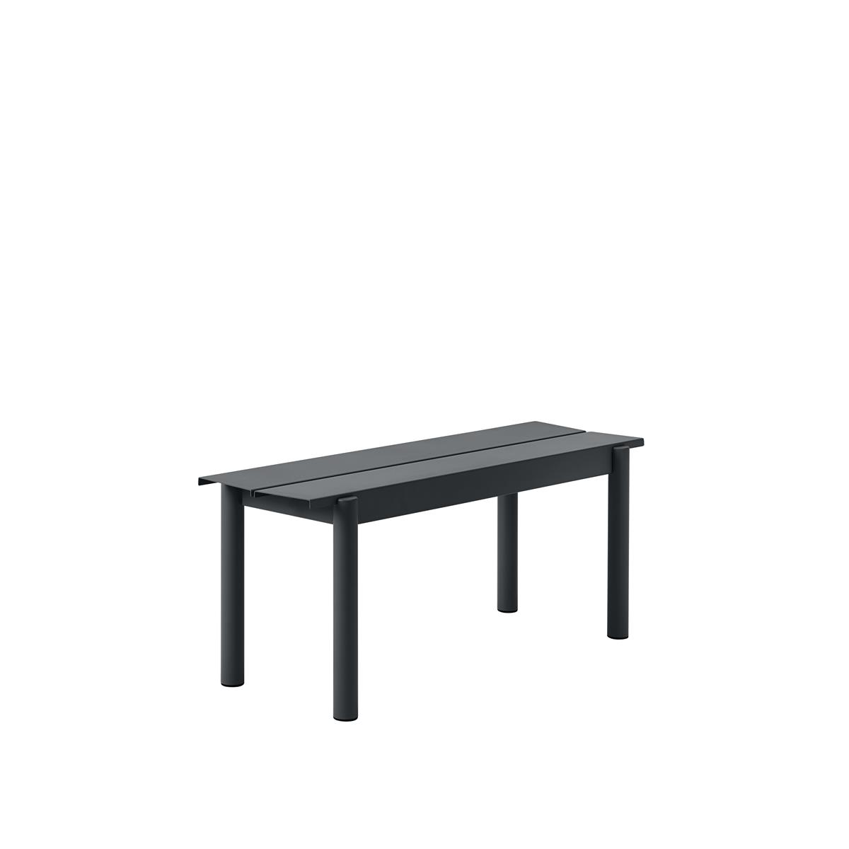 Linear Steel Bench 110 x H45,5 - Black