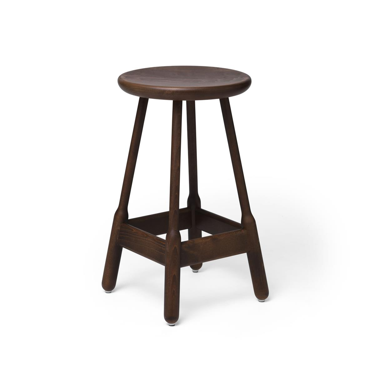 Albert Low Bar Stool - Walnut Stained