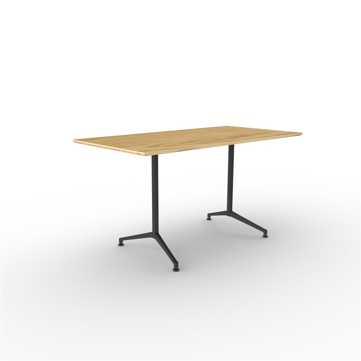 X1 Seamless Table 180x90 - eik finér & sort ramme