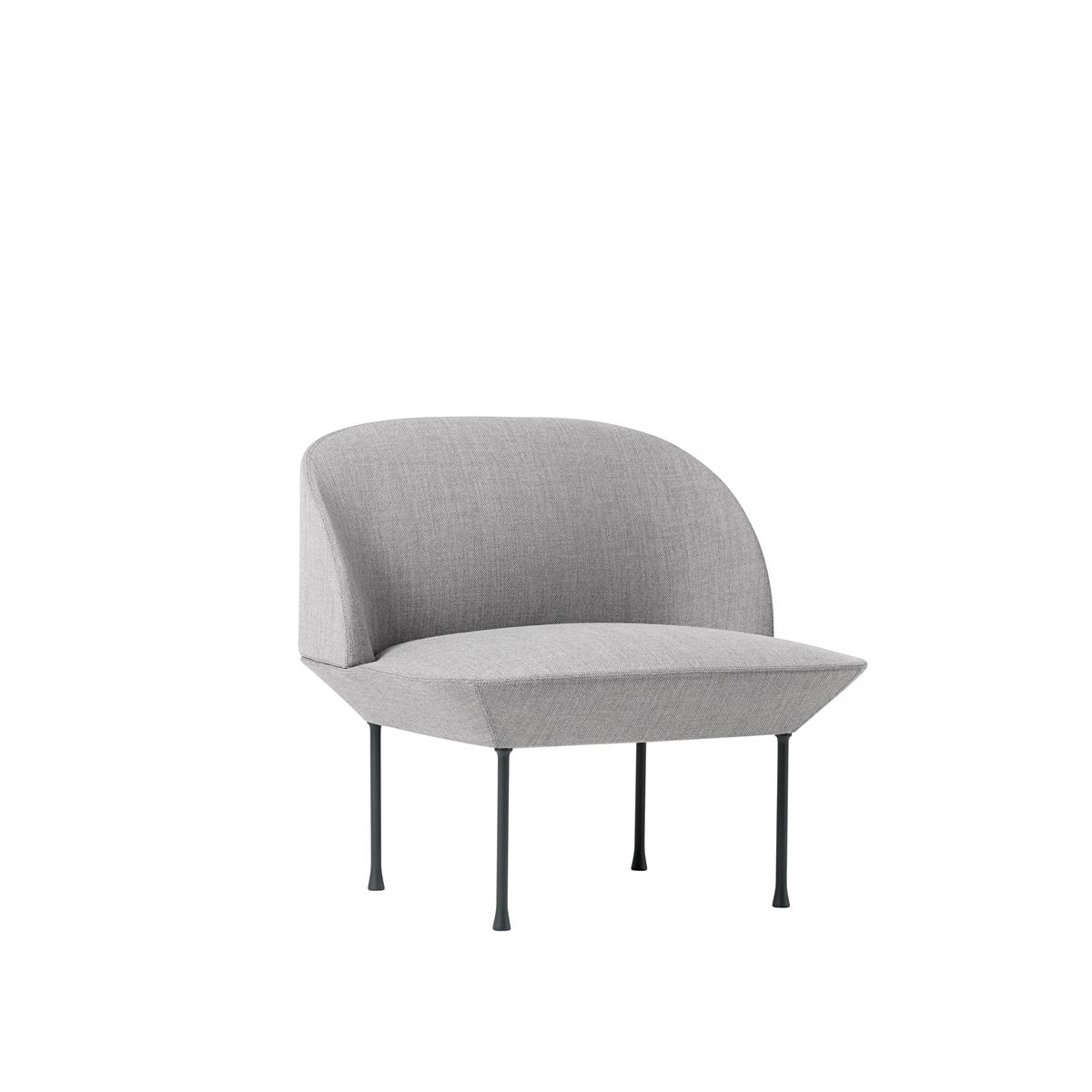 Oslo Lounge Chair - Fiord 151 & Dark Grey Legs
