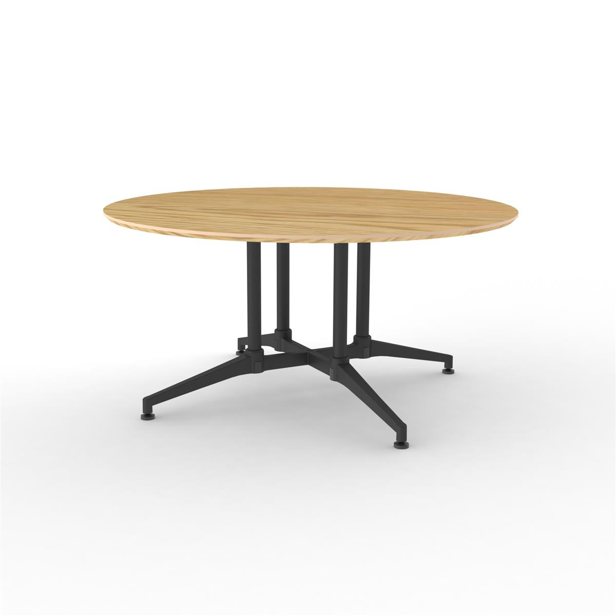 X1 Seamless Table Ø150 cm med eik finér & sort understell