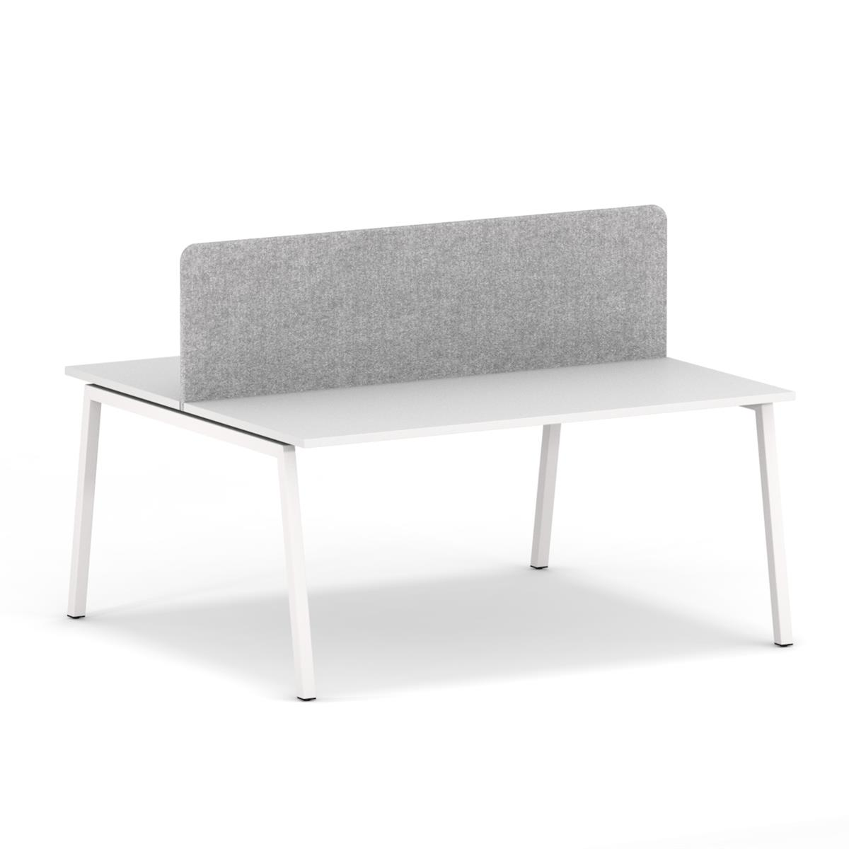 No Desk Screen for Bench 160 x H45 - tekstil Camira Synergy