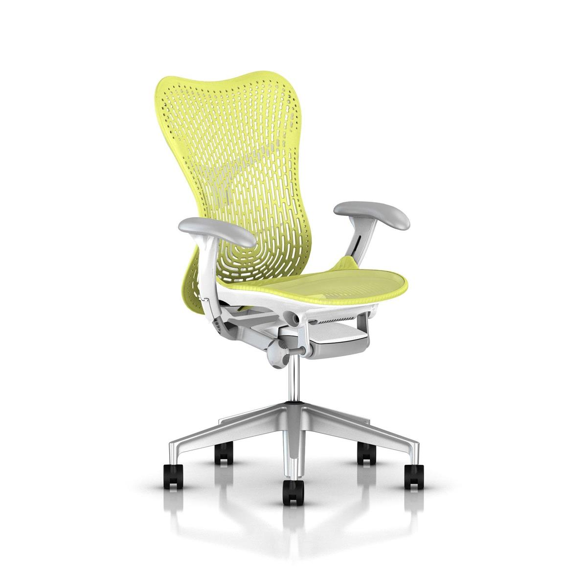 Mirra 2 Lime Green & Studio White / Fog og aluminium base