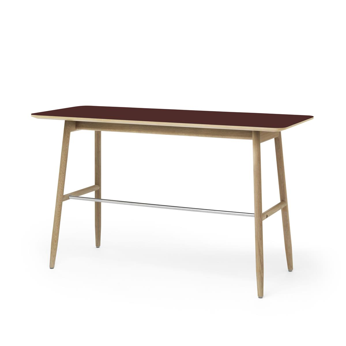 Icha Desk 120 x 50 cm i Burgunder & Natural Oak