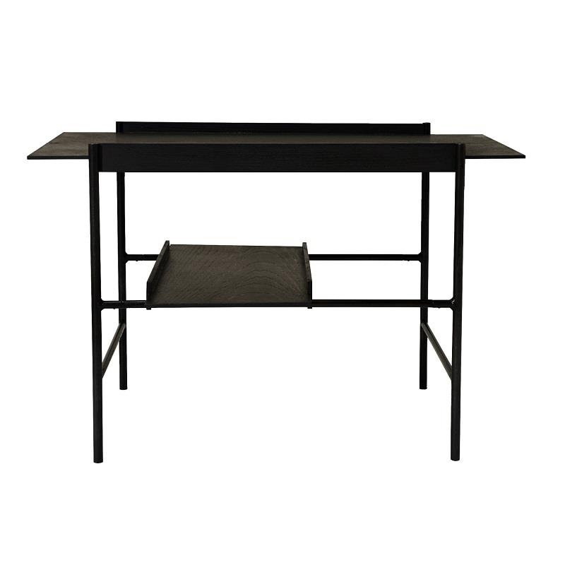 Kanso Tray Table. Stained black tray set (ash). Black frame.