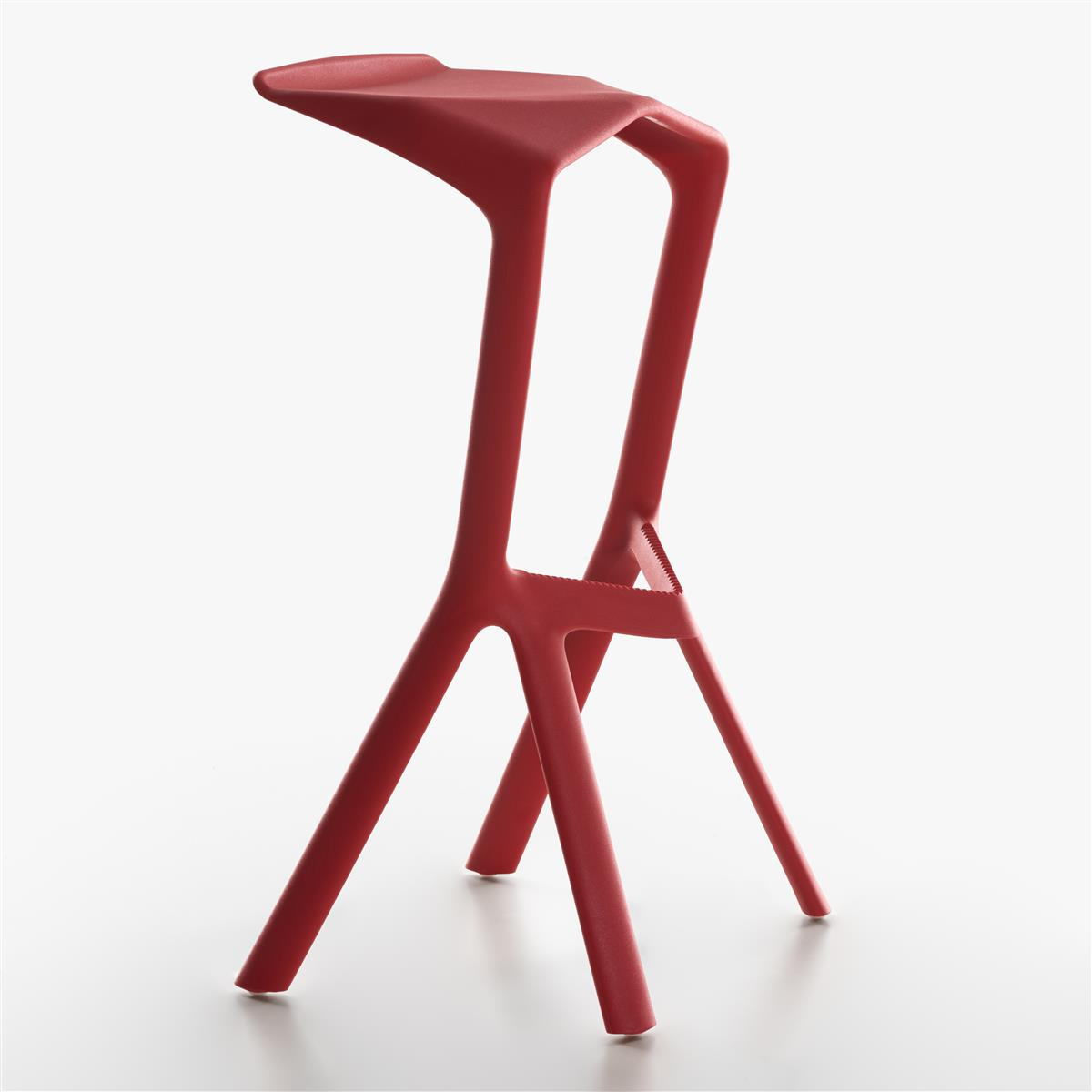 Miura Bar Stool H78 - Traffic Red