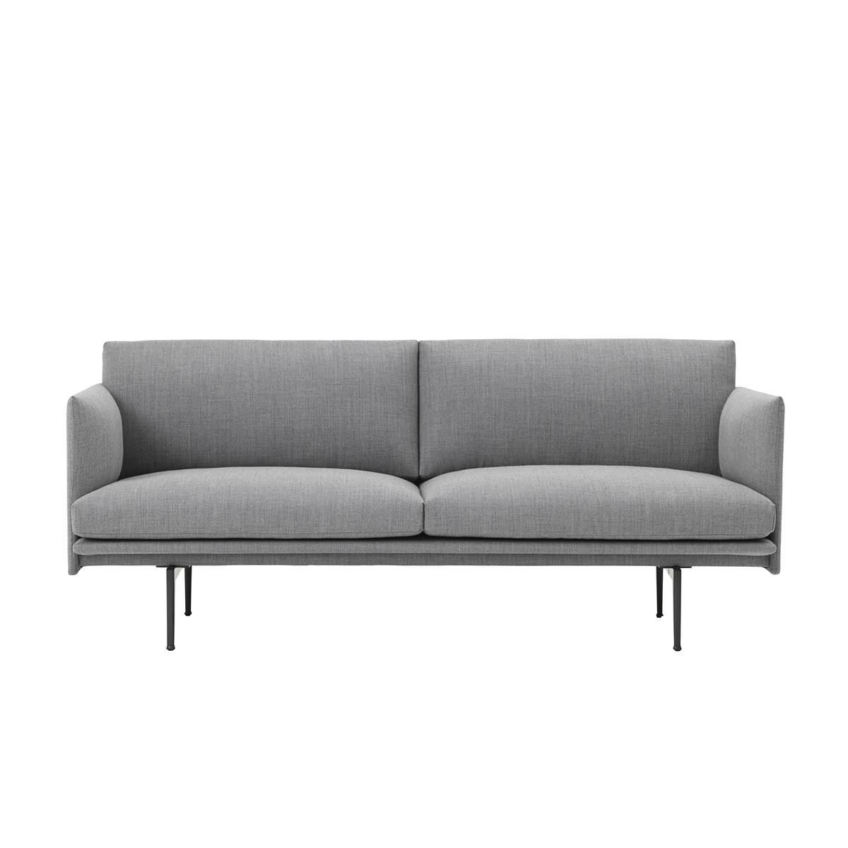Outline Sofa 2 Seater - Kvadrat Fiord & Black