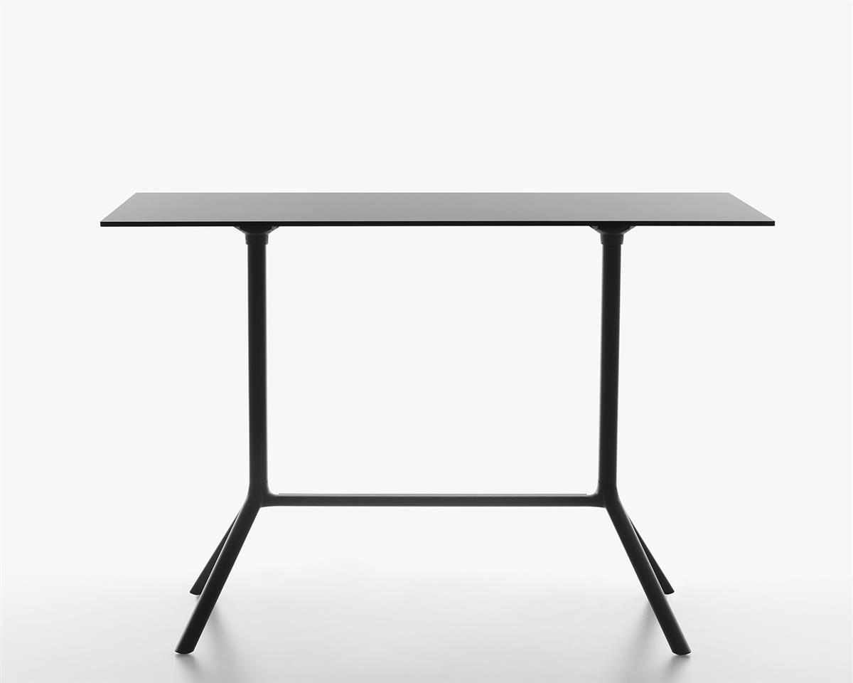 Miura Folding Bar Table 160 x 80 x H103 - sort HPL & sort ramme