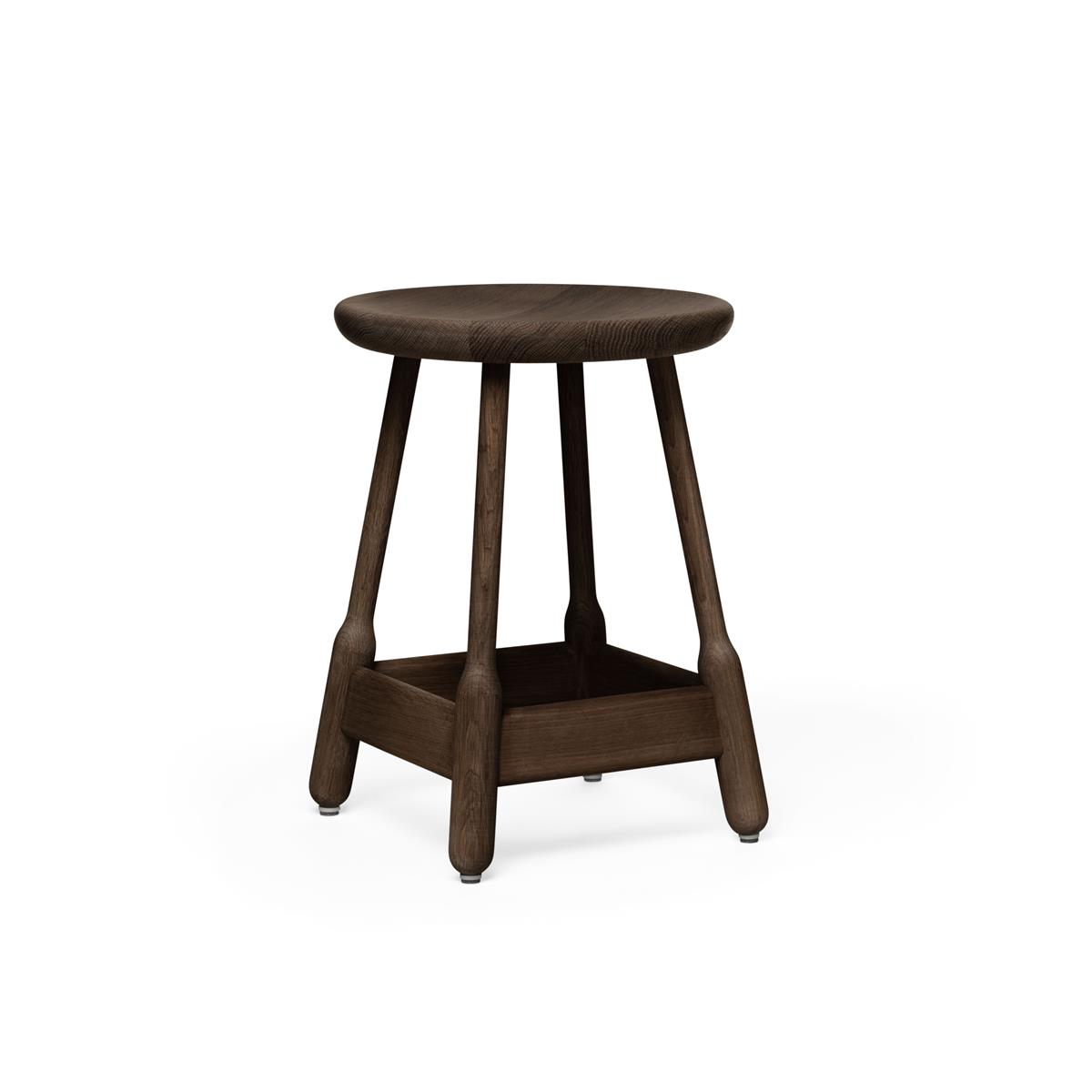 Albert Stool H50 - Walnut Stained