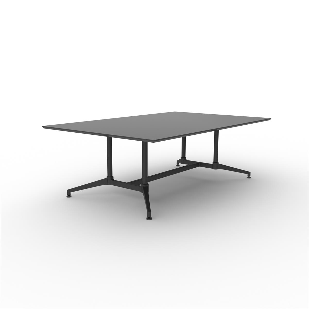 X1 Seamless Table 220 x 140 - sort linoleum & sort