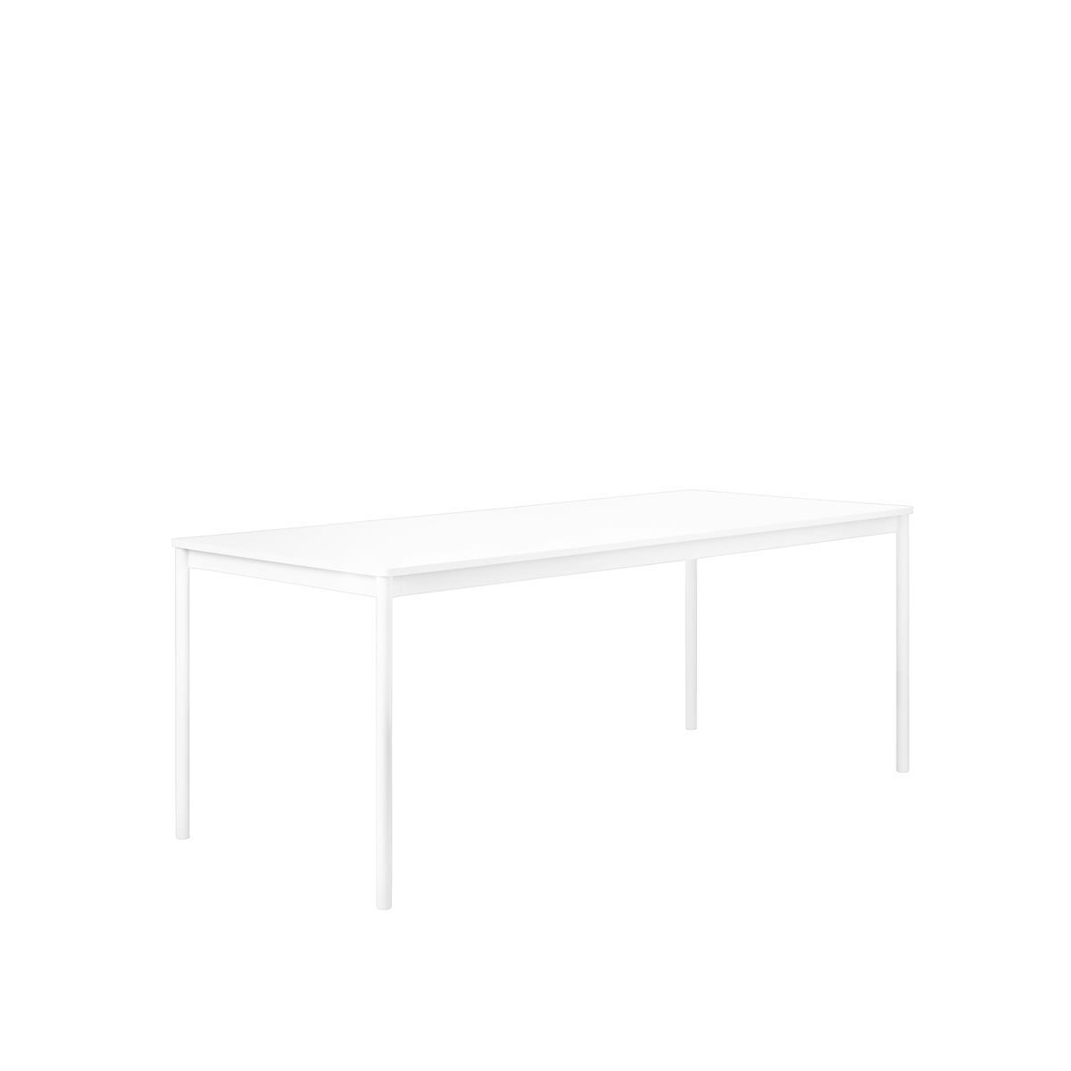 Base Table / 140 X 80 White/White Laminate/ABS