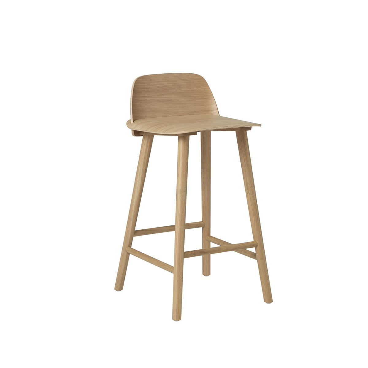 Nerd Bar Stool H65 - Oak