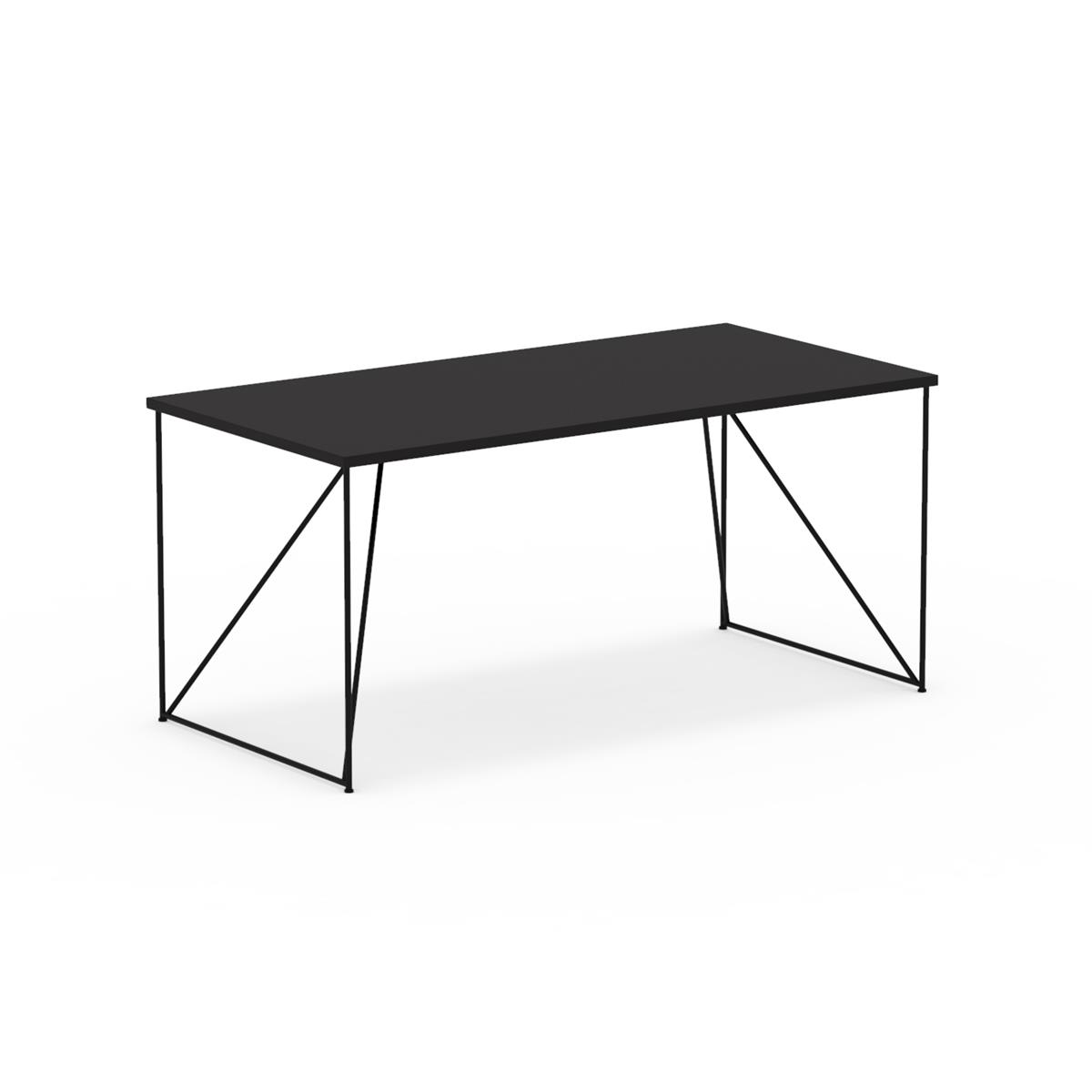 W1 Wired Table 160x80 cm med sort linoleum