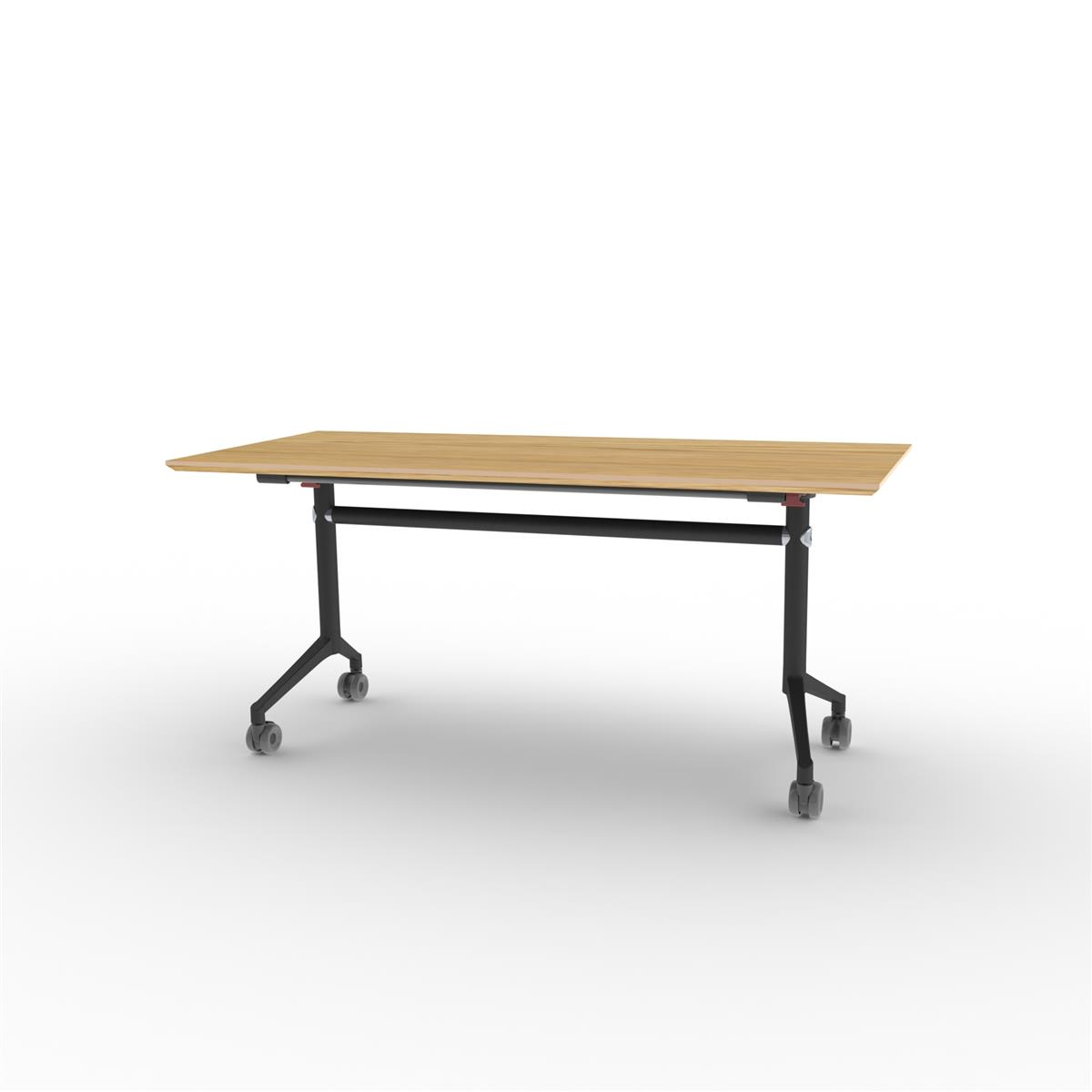 X1 Seamless Folding Table 160x70 cm med eikefinér og sort understell