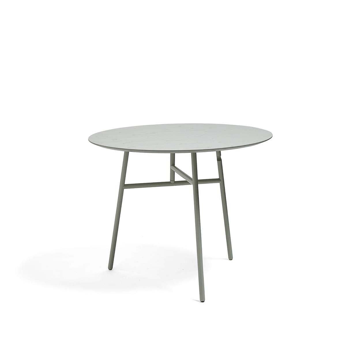 Tilt Top Table Ø90 x H74 - Green Stained Ash