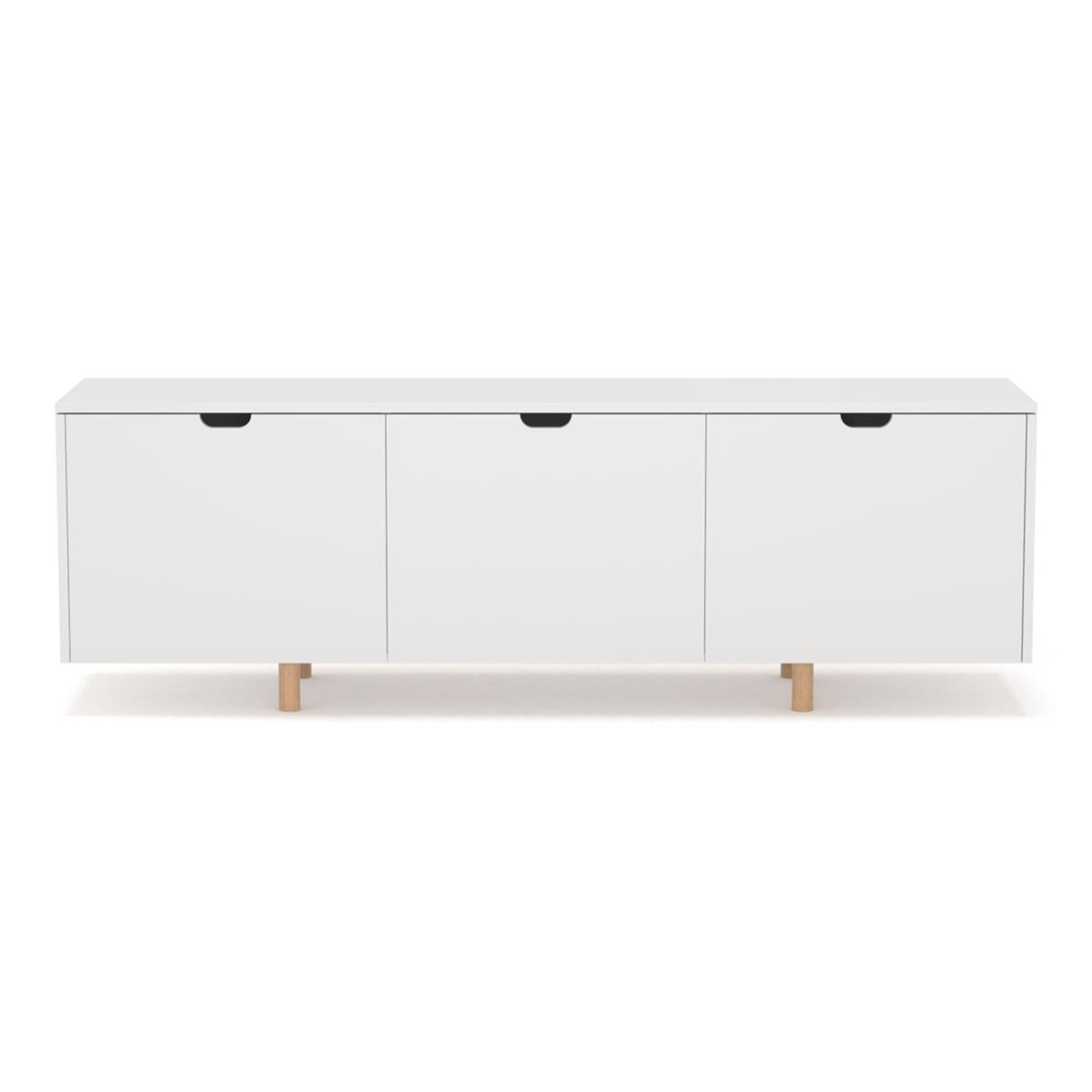 O3 Floating Sideboard - hvit & eik ben