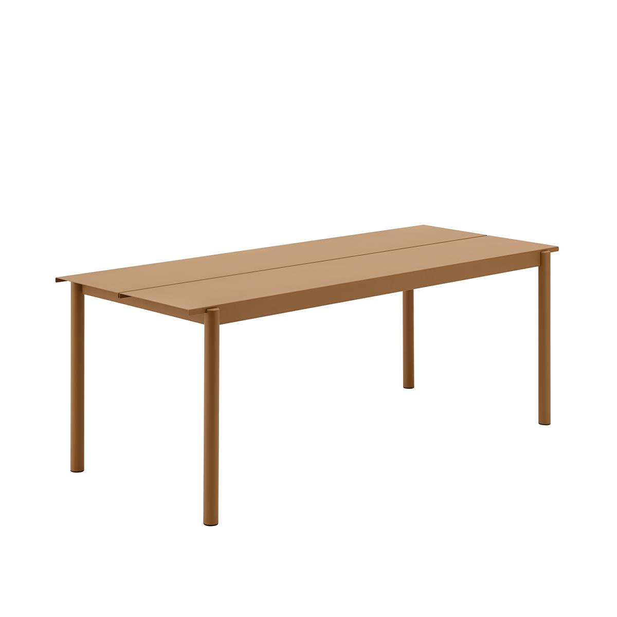 Linear Steel Table 200 x 75 x H73,5 - Burnt Orange