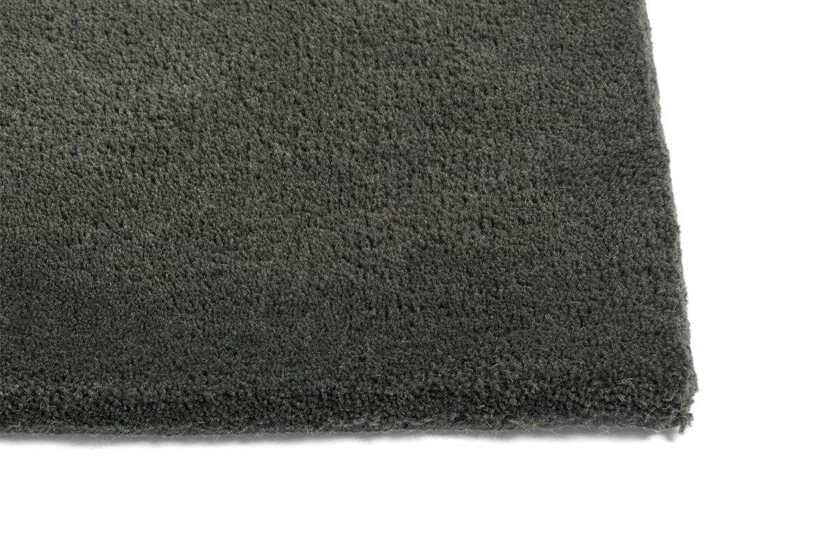 RAW RUG NO 2 / DARK GREEN  L2000 X W800. MATERIAL WOOL/COTTON BACKING