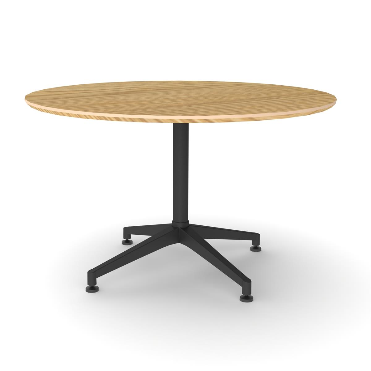 X1 Seamless Table Ø120 cm med eik finér & sort understell