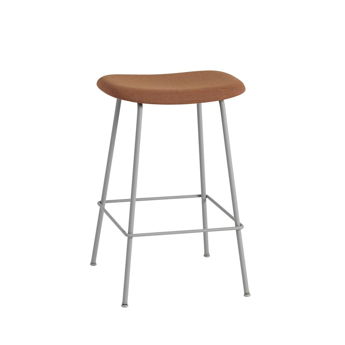 Fiber Bar Stool / Tube Base H65 - Kvadrat Remix & Grey