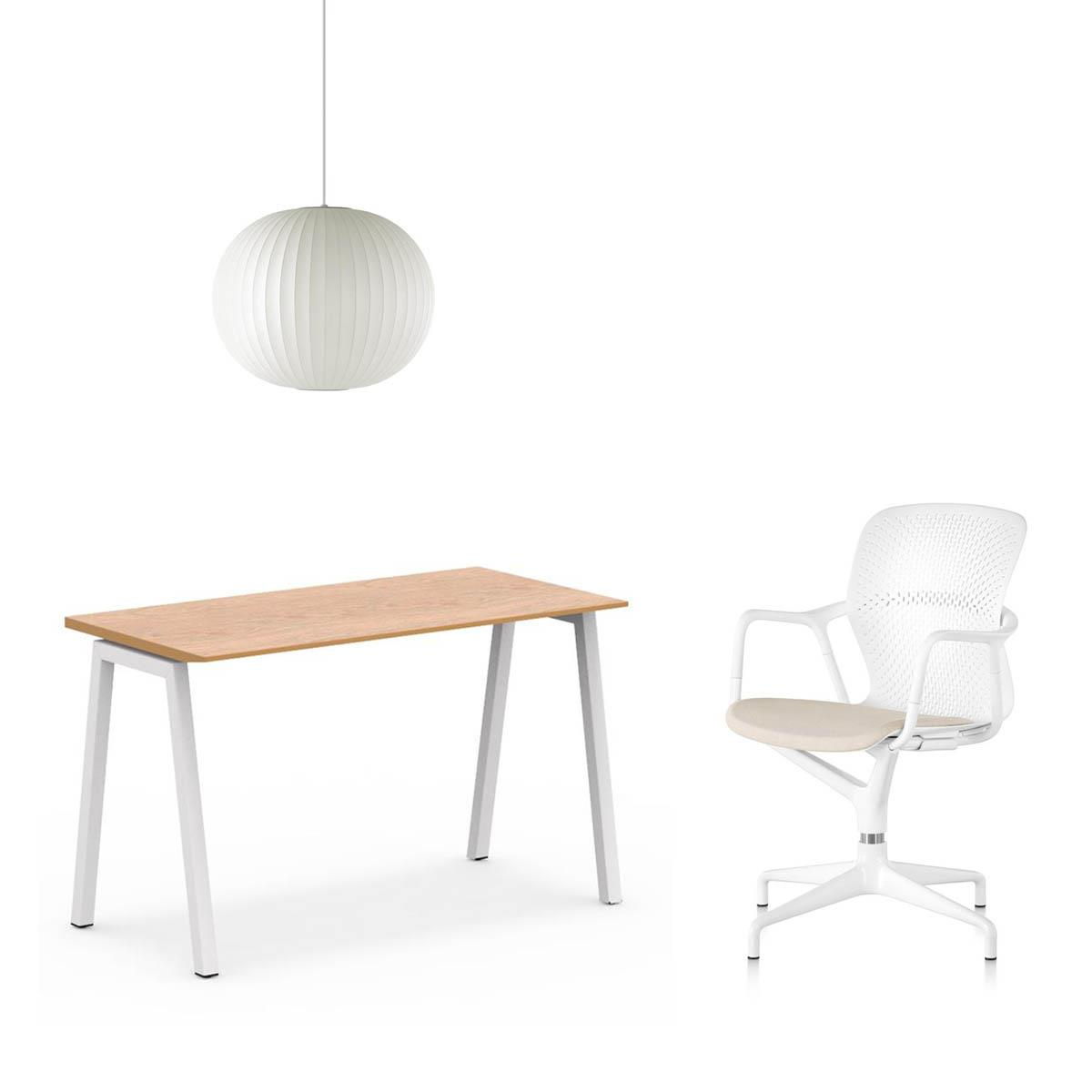 A1 Angled Table, Keyn Chair & Nelson Lamp