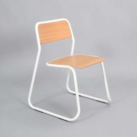 Bounce Chair i eik & hvit