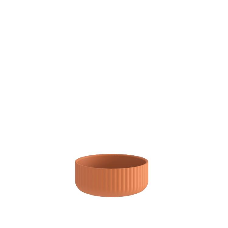 Klorofyll Low Round Concrete Terracotta Planter