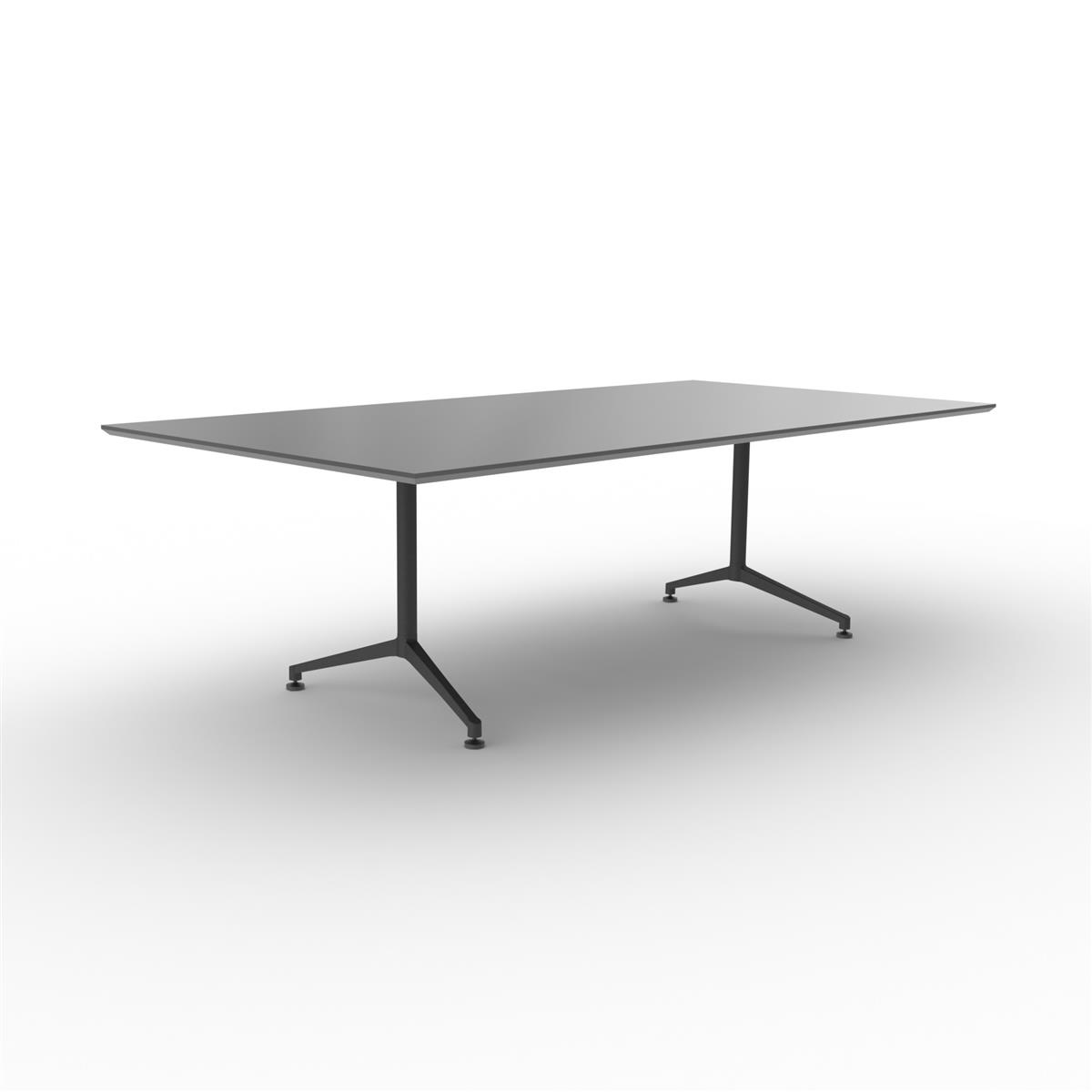 X1 Seamless Table 240 x 120 cm - sort linoleum med sort understell