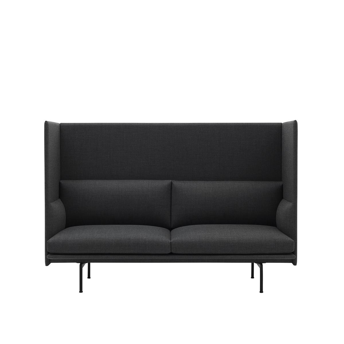 Outline Highback 2 Seater - Remix & Black