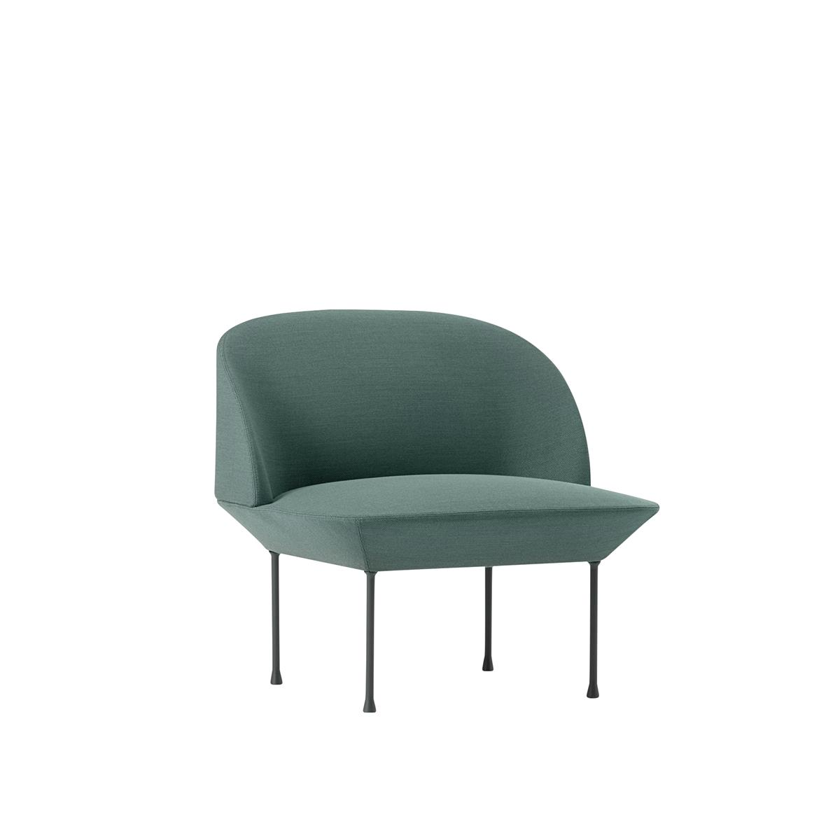Oslo Lounge Chair - Steelcut Trio 966 & Dark Grey Legs