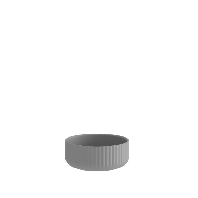 Klorofyll Low Round Concrete Planter
