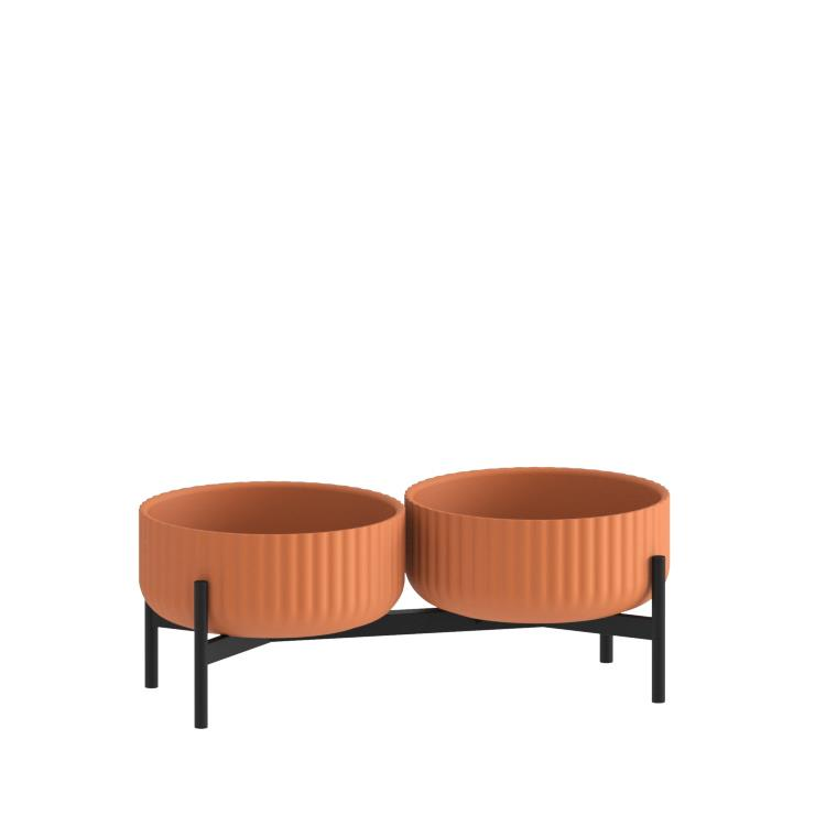 Klorofyll Double Low Base & Low Concrete Terracotta Planters