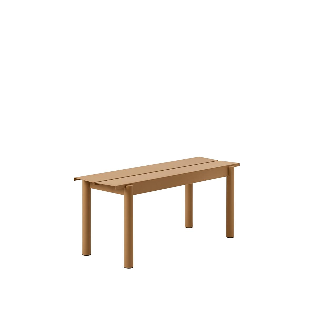 Linear Steel Bench 110 x H45,5 - Burnt Orange