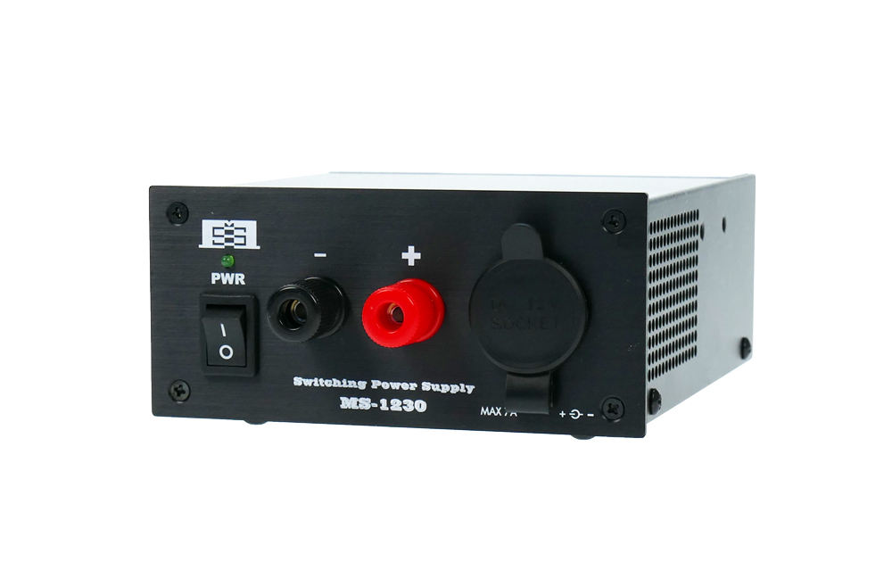 MS-1230BA 25A kont. 13,8V  Vekt 1,4 kg. Switch mode