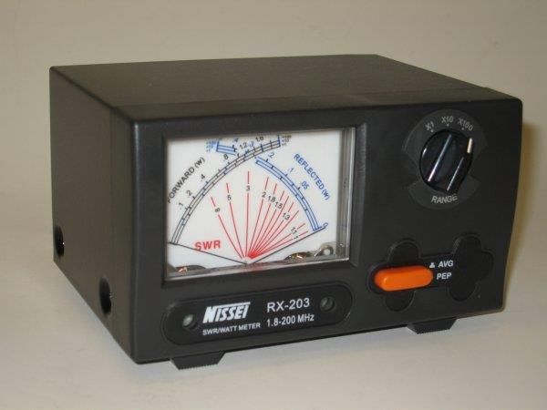 RX-203  SWR/POWER - Cross Needle Meter 1,8-200MHz 2/20/200W