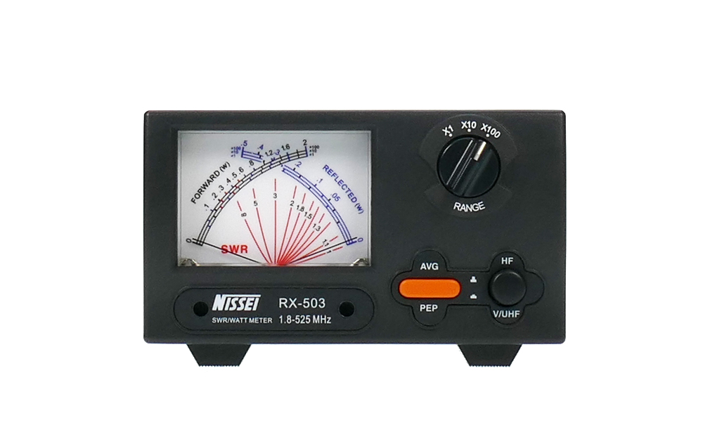 RX-503  SWR/POWER - Cross Needle Meter 1,8 - 525MHz, dobbel