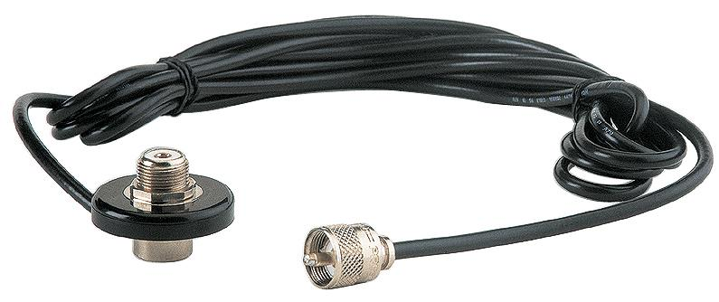 CB - LS 06 CPL Extra flat antenna mount + PL+ cable: boring